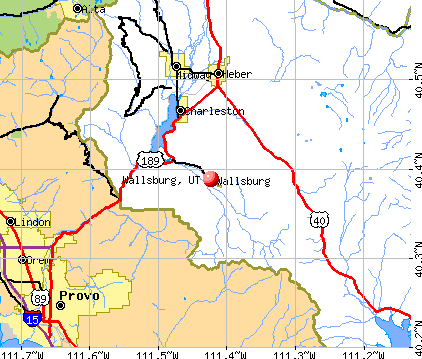 Wallsburg, UT map
