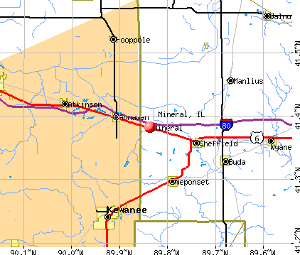 Mineral, IL map
