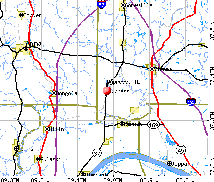 Cypress, IL map
