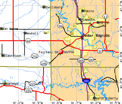 Fairfax, IA map