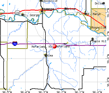 McFarland, KS map