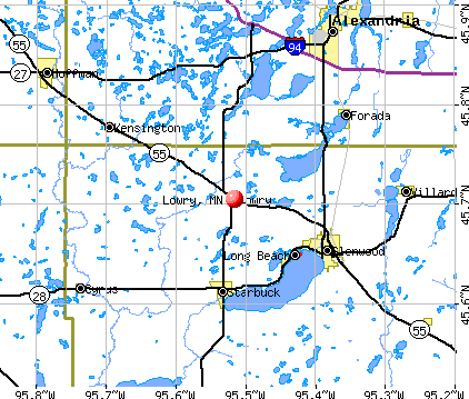 Lowry, MN map