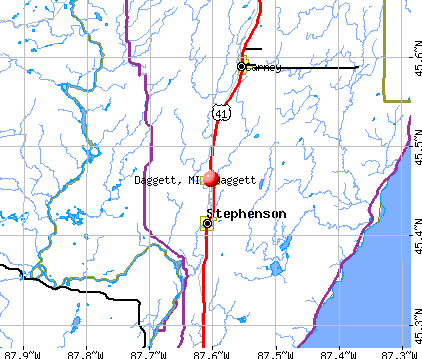 Daggett, MI map
