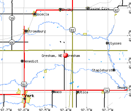 Gresham, NE map