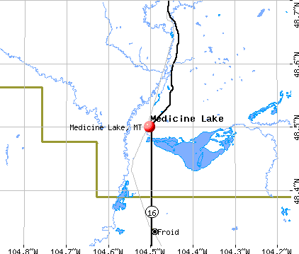 Medicine Lake, MT map
