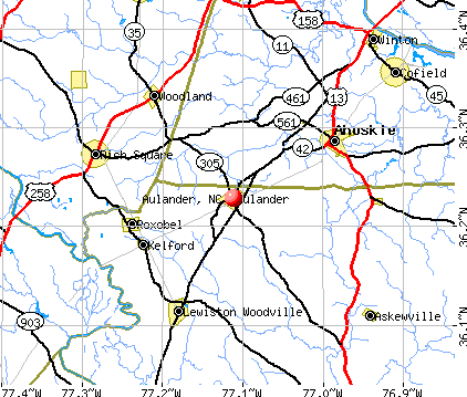 Aulander, NC map