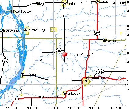 Little York, IL map