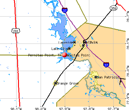 Pernitas Point, TX map