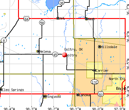 Goltry, OK map
