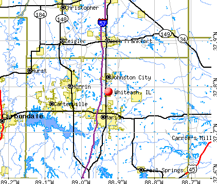 Whiteash, IL map