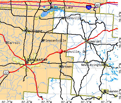 Rushville, OH map