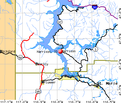 Harrison, ID map