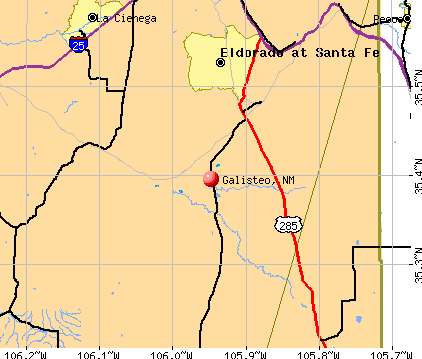 Galisteo, NM map