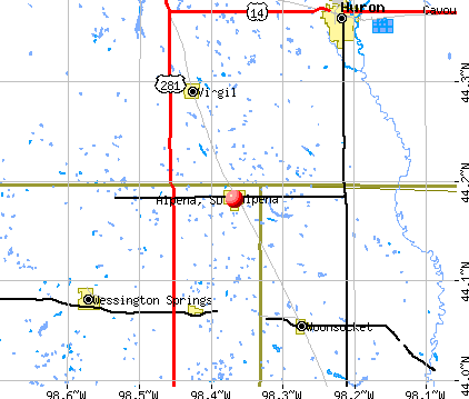 Alpena, SD map