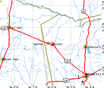 Chester, TX map