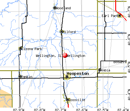 Wellington, IL map