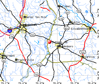 Butters, NC map