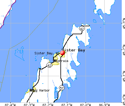 Sister Bay, WI map