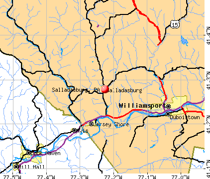 Salladasburg, PA map