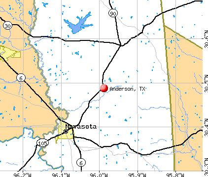 Anderson, TX map