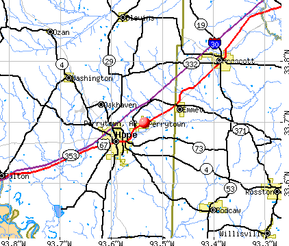 Perrytown, AR map
