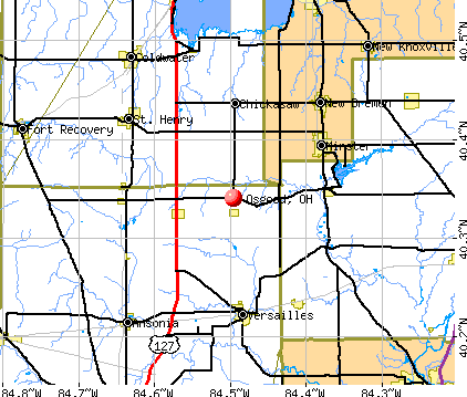 Osgood, OH map