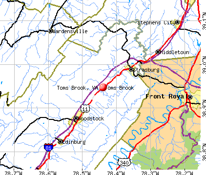 Toms Brook, VA map