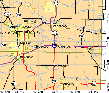 Fidelity, MO map