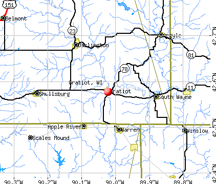 Gratiot, WI map