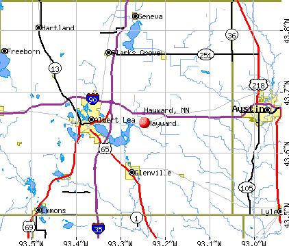 Hayward, MN map