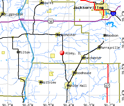 Alsey, IL map