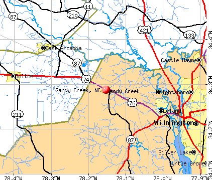 Sandy Creek, NC map