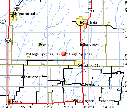 College Springs, IA map