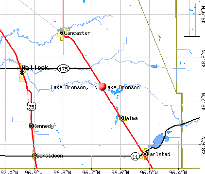 Lake Bronson, MN map