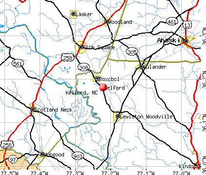 Kelford, NC map