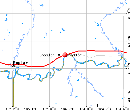 Brockton, MT map