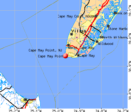 Cape May Point, NJ map