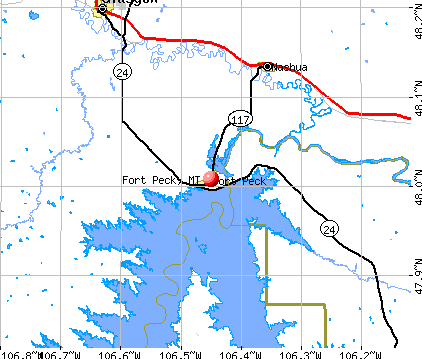 Fort Peck, MT map