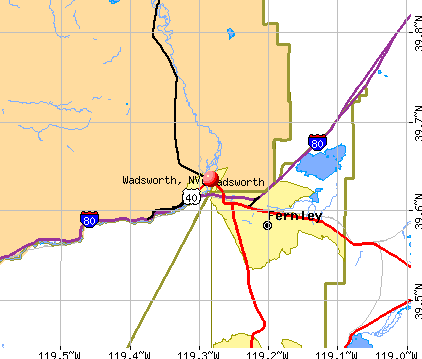 Wadsworth, NV map