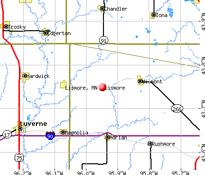 Lismore, MN map
