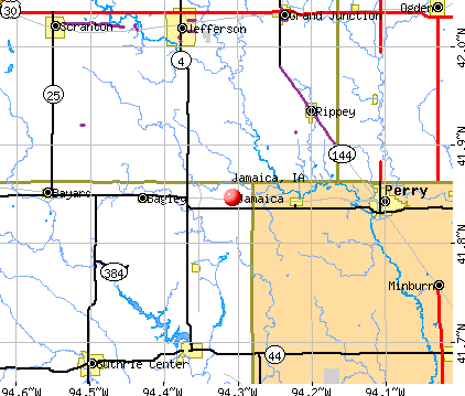 Jamaica, IA map