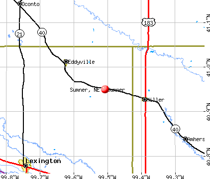 Sumner, NE map