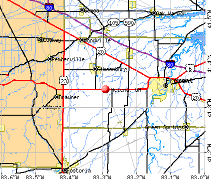 Helena, OH map