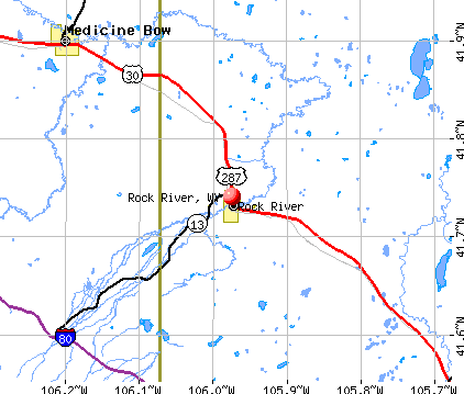 Rock River, WY map