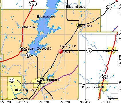 Foyil, OK map