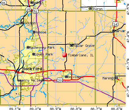 Timberlane, IL map