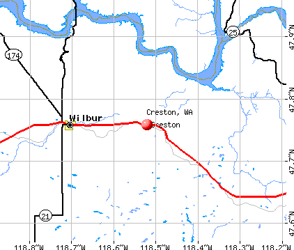Creston, WA map