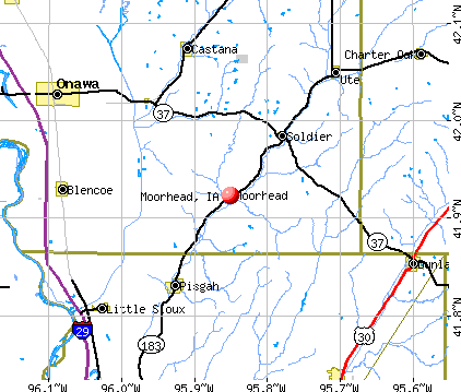 Moorhead, IA map