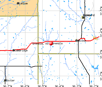 Grenola, KS map