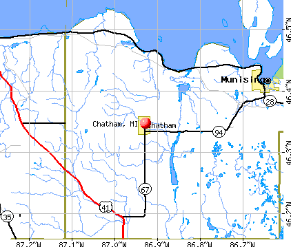 Chatham, MI map